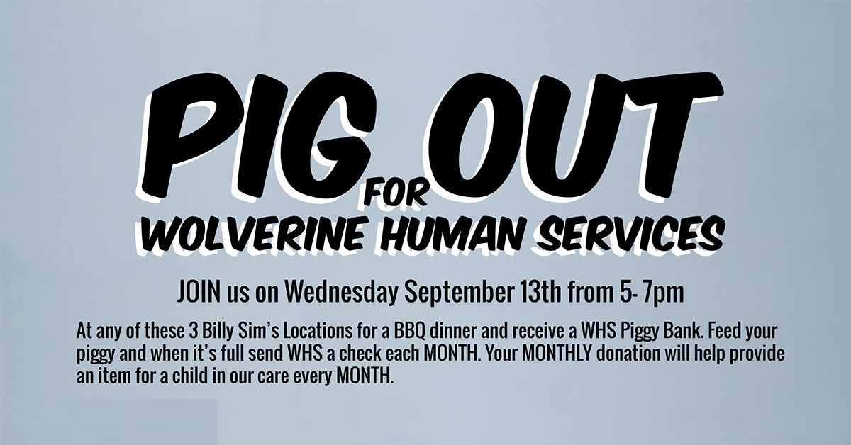 Pig Out For Wolverine Human Services