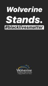 Wolverine stands with Black Lives Matter